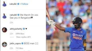Ind vs Aus: Athiya Shetty's 'Heart' Reaction to KL Rahul's Instagram Post After Rajkot Heroics is Epic | POST